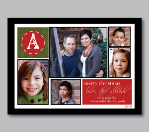Holiday Photo Cards-Monogram