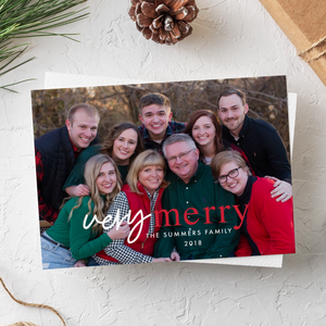 Holiday Card-Very Merry