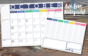 Bundle Up Sale-Desk Calendar+Notepad