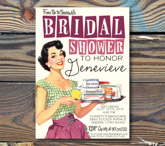 Bridal Shower Invitations-Housewife