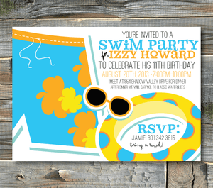 party invitations-make a splash (boy)