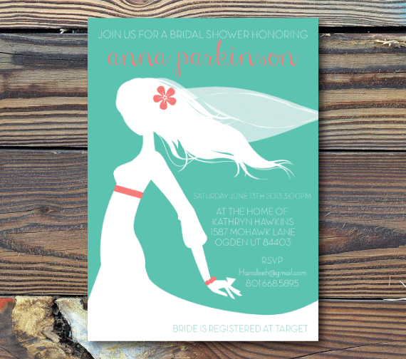 Bridal Shower Invitations-Bride