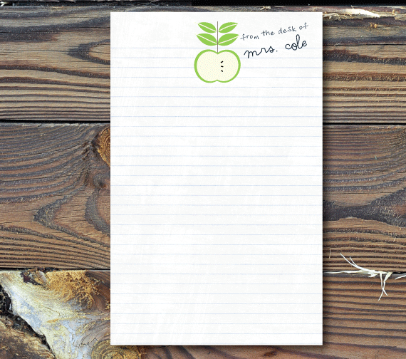 Notepads-An Apple for the Teacher
