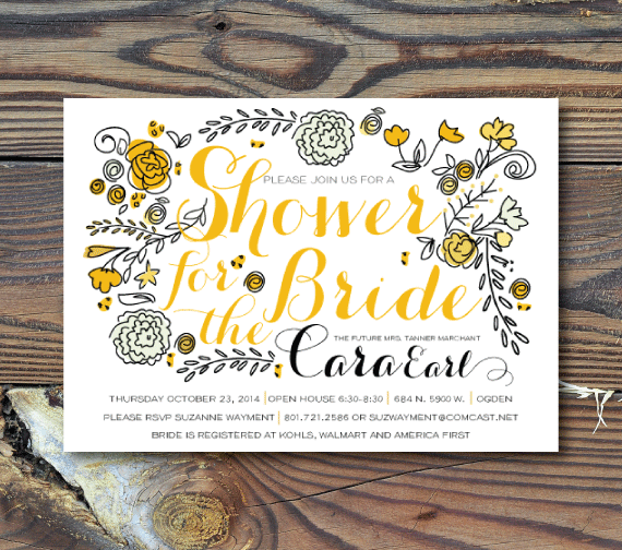 Bridal Shower Invitations-Fall Floral