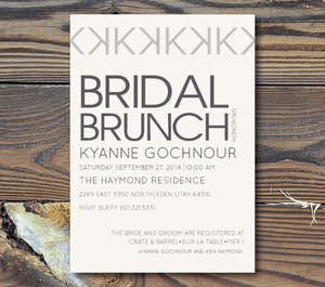 Bridal Shower Invitations-Modern