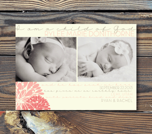 Birth Announcements-Child of God