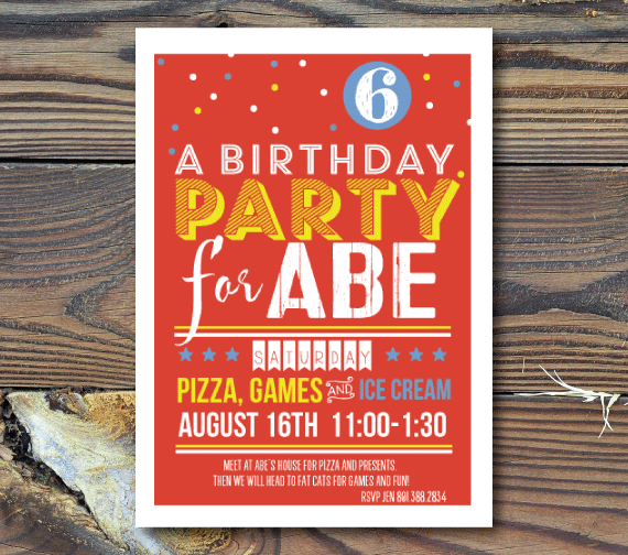 Party Invitations-Big Fun