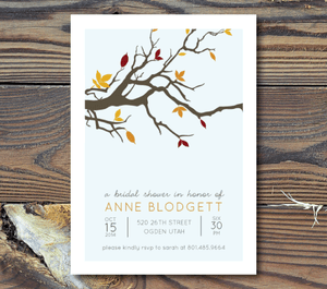 Bridal Shower Invitations-Tree Branch
