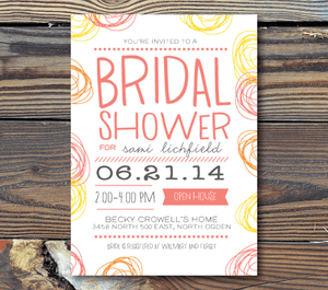 Bridal Shower Invitations-Playful