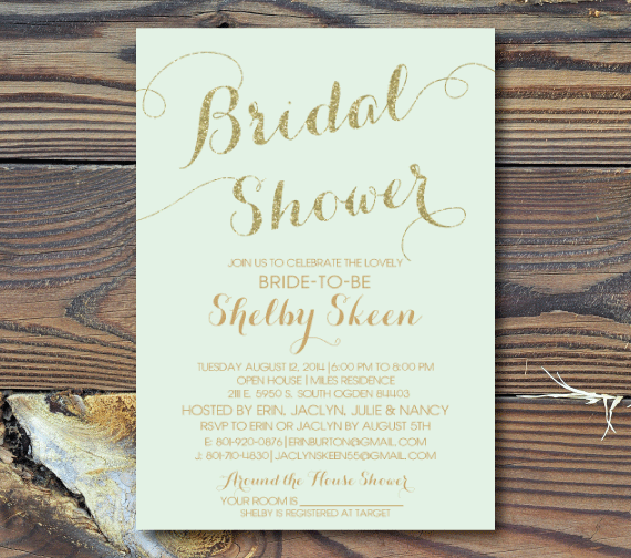 bridal shower invitations classic