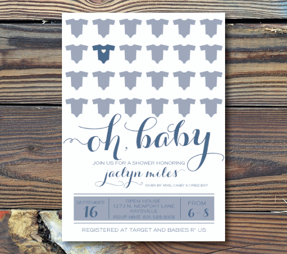 Baby Shower Invitations-Oh Baby!
