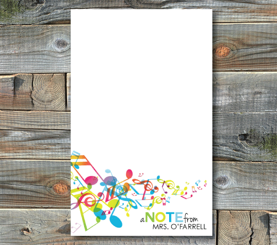 notepads-music notes