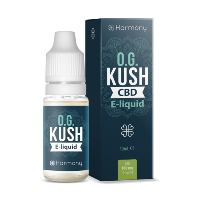 Harmony CBD E-Liquid - OG Kush (With Terpenes) - 100mg, 300mg