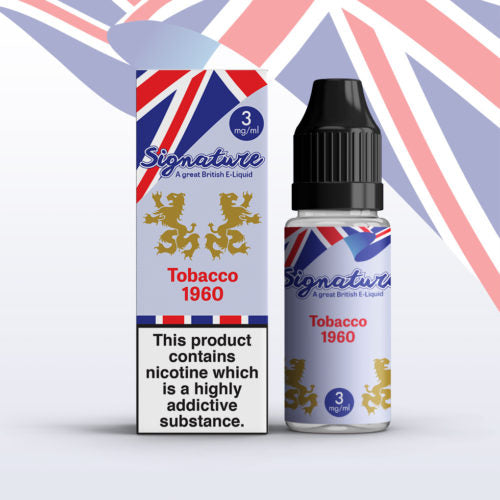 Signature Vapour 10ml E-Liquid - Tobacco 1960