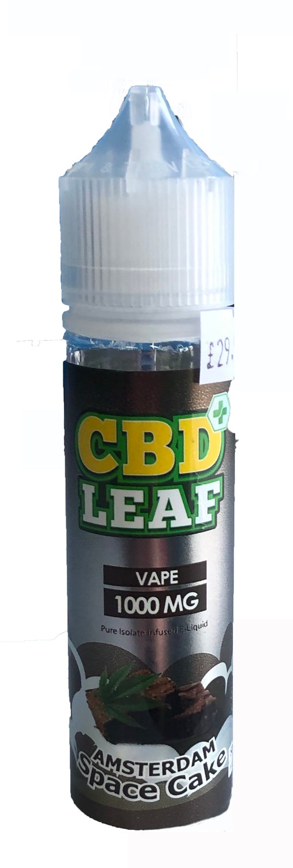 CBD Leaf Amtserdam Space Cake 50ml - 1000mg CBD Isolate by en-ex