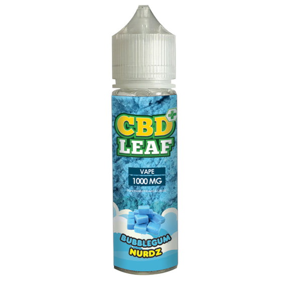 CBD Leaf Bubblegumz Nurdz 50ml - 1000mg CBD Isolate