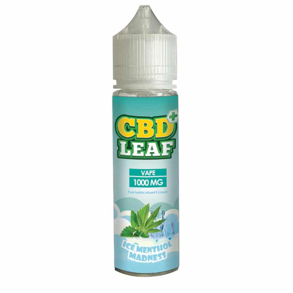 CBD Leaf Ice Menthol Madness 50ml - 1000mg CBD Isolate by en-ex