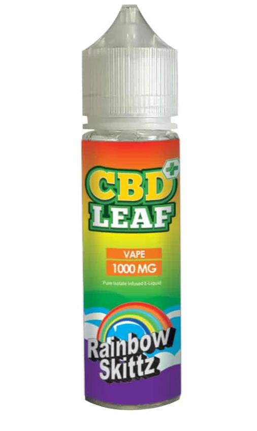 CBD Leaf Rainbow Skittles 50ml - 1000mg CBD Isolate