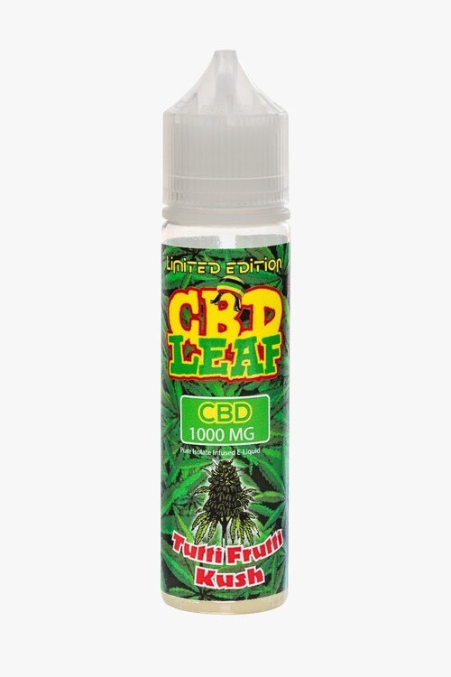 CBD Leaf Tutti Frutti Kush 50ml - 1000mg CBD Isolate by en-ex