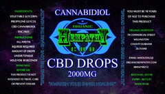 Organic Hempathy CBD Drops - 250mg to 2000mg