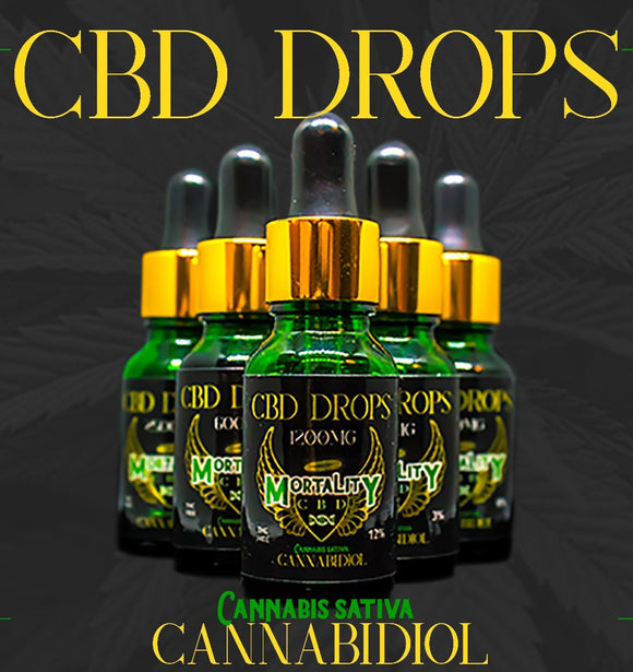 idealaworld,Mortality CBD Drops 600mg - 15ml.