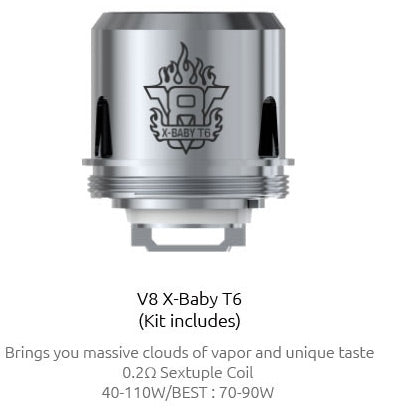 SMOK V8 Baby T6 0.2 Ohm Coils 3 Pack by en-ex