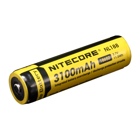Nitecore - 3100mAh 18650 rechargeable Li-ion battery - NL188