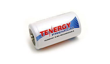 Tenergy Premium NiMH D 10000mAh Rechargeable Battery - 4 pack