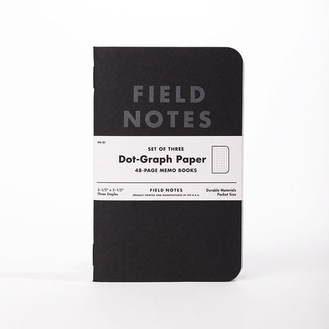 Field Notes - Pitch Black, Dot Grid Paper, FN-21 (3-pack)