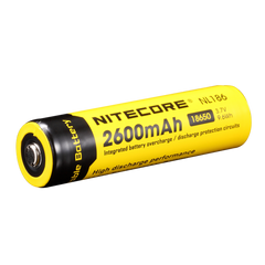 Nitecore - 2600mAh 18650 rechargeable Li-ion battery - NL186