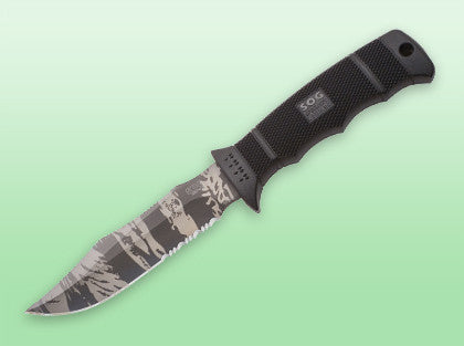 SOG - SEAL Pup Elite - Tigerstripe Black - Partially serrated