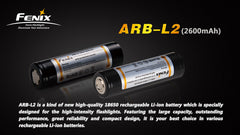 Fenix ARB-L2 rechargeable Li-ion battery - 18650, 2600mAh