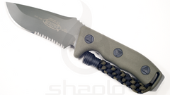 Microtech Currahee - Single edge, Green, Partially serrated 102-2GR