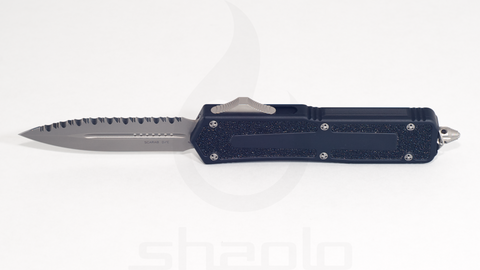 Microtech Scarab - Dual edge, Bead blast, Fully serrated - 175-9
