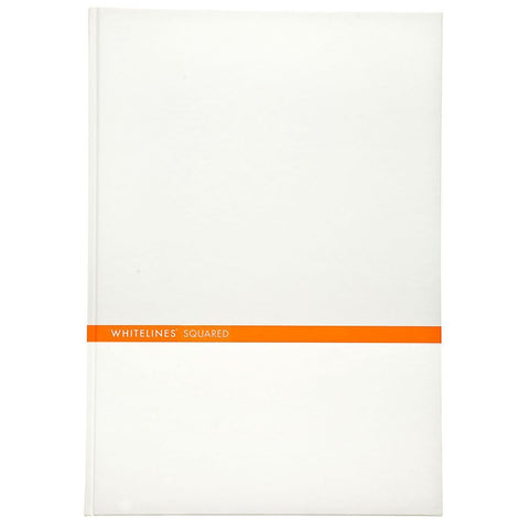 Whitelines - Hard Bound, White, A5, Squared - WL25