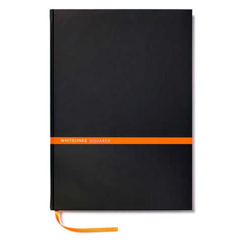 Whitelines - Hard Bound, Black, A5, Squared - WL63