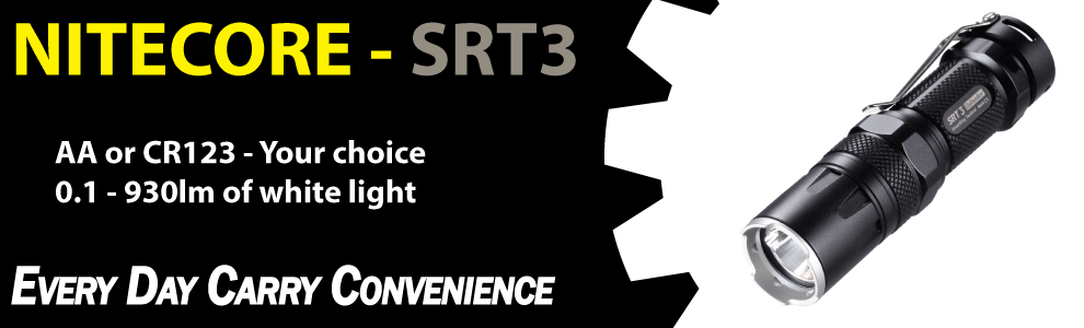 Nitecore SRT3 edc everyday carry flashlight