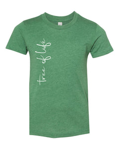 Tree of Life Script Tee - Green