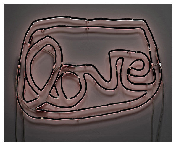 Large LOVE neon (black/white)