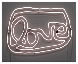 Large LOVE neon (white)