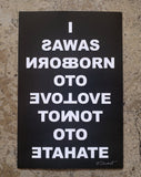 I WAS BORN TO LOVE NOT TO HATE sticker