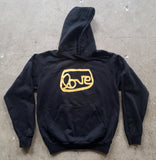 Black grantLOVE hoodie with GOLD