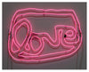 Large LOVE neon (pink)