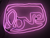 Small LOVE neon (pink)