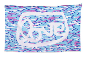 grantLOVE x Devon Tsuno Beach Towel -- Blue