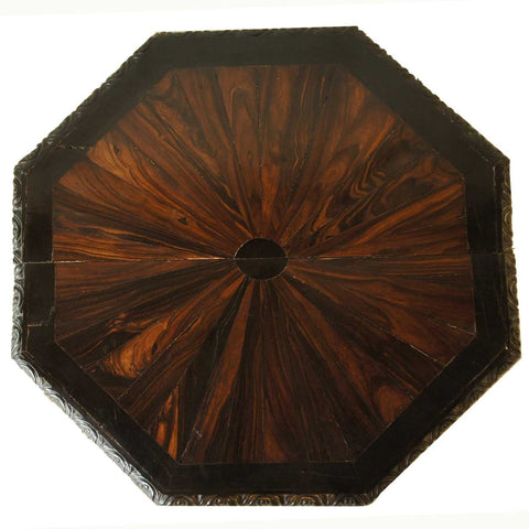 Pair of Anglo Indian Ebony and Calamander Veneer Table Tops