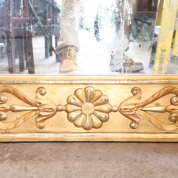 Tall Swedish Karl Johan Gilt Pier Mirror