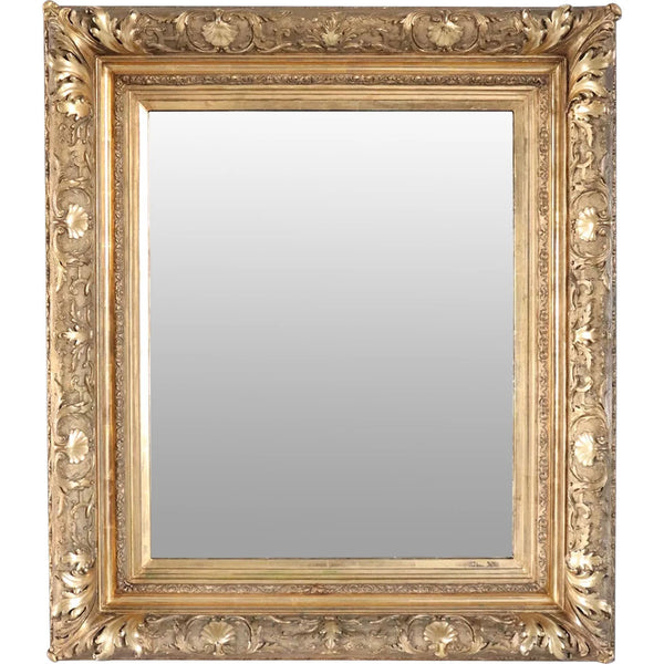 American Gilt Gesso Framed Wall Mirror