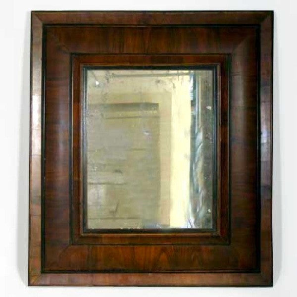 French Baroque Figured Cherrywood Mirror