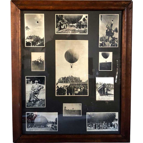 Assembled Set of 11 American Photographs, Hot Air Balloons